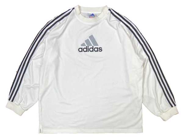 90's Adidas Center Logo Vintage Jersey Long sleeve T-Shirt / 1864