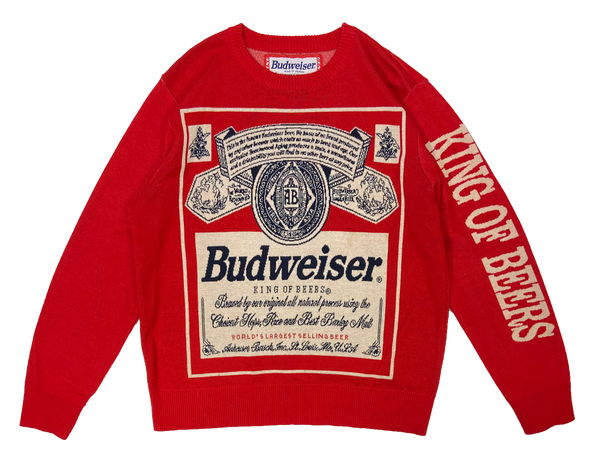 Vintage Budweiser Knit Sweater / 1873