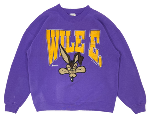 90's Wile E. Looney Tunes Made in USA Vintage Sweat-Shirt / 1952