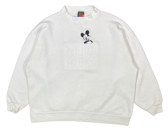 90's Vintage Mickey Mouse Made in USA Disney Sweat-Shirt / 1957