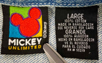 90's Vintage Mickey Mouse Disney Denim Jacket / 1985