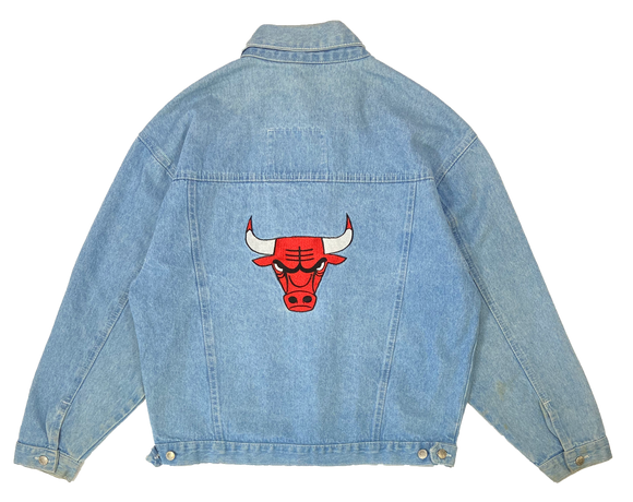 90's Vintage Chicago Bulls Denim Jacket / 1986