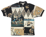 Vintage Mickey Mouse Golf Club All Over Print Disney Polo-Shirt / 2032