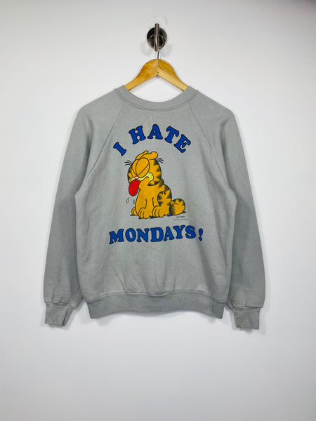 80's Garfield I HATE MONDAYS! Vintage Sweat-Shirt / 4671