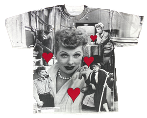 I LOVE LUCY All over print Vintage T-Shirts / 227