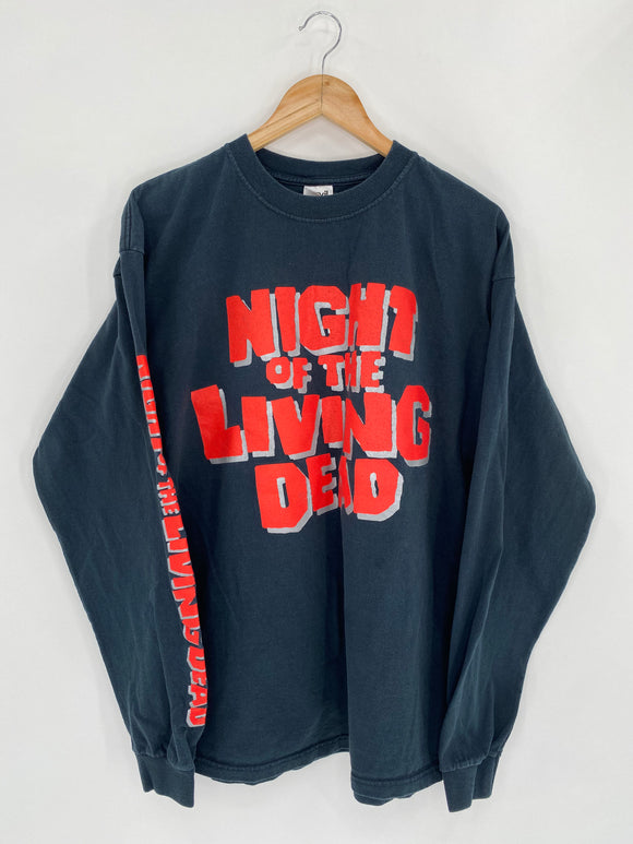 2001 NIGHT OF THE LIVING DEAD Size XL Vintage Long Sleeve T-Shirt / 5495