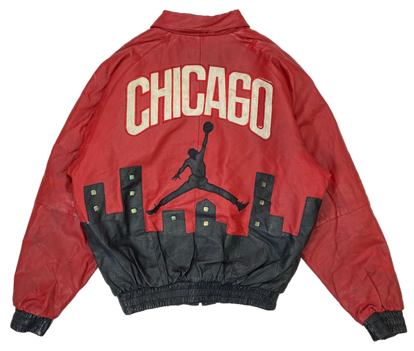 90's Bootleg Jordan Leather Jacket / 2692