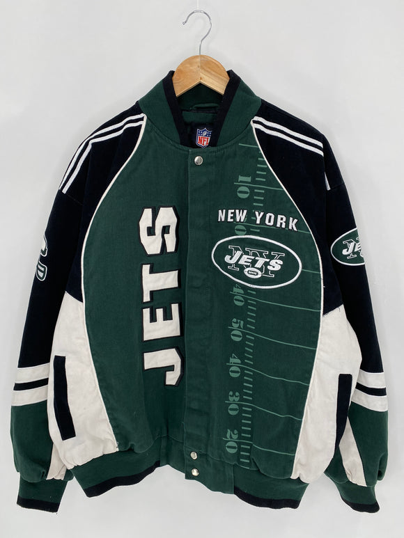 NFL NEW YORK JETS Size XL Vintage NFL Jacket / 6174