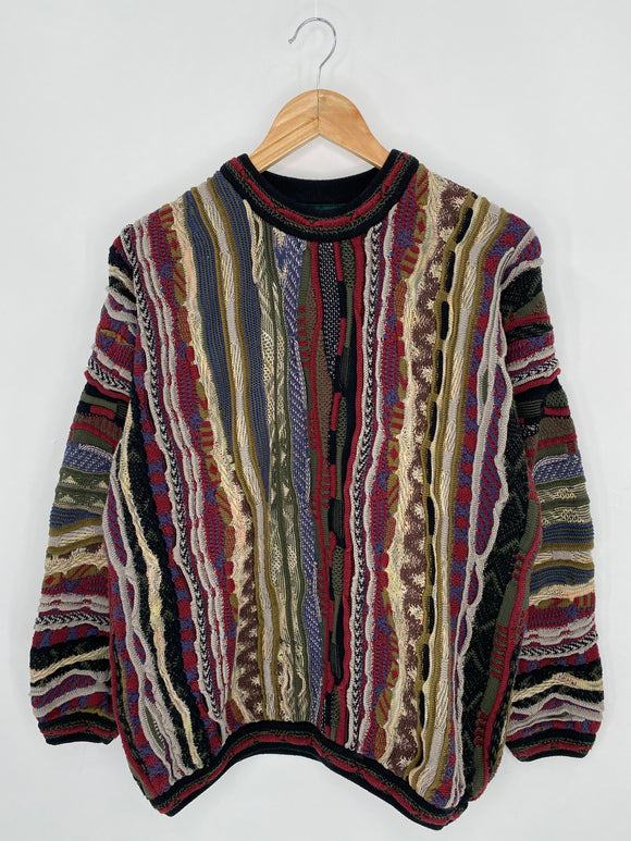 Vintage 3D Coogi-Style Size M Knit Sweater / 6317