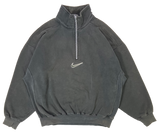 90's Nike Mini Swoosh Half-Zip Vintage Sweat-Shirt / 3092