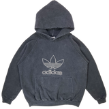 90's Adidas Made in USA Vintage Hoodie Sweat-Shirt / 3416