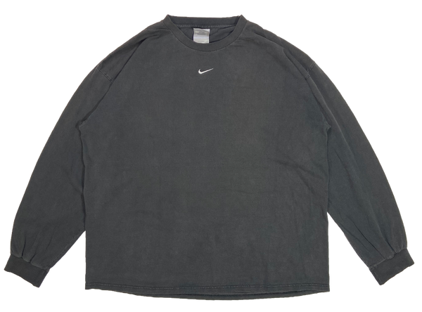 90's Nike Center Swoosh Vintage Long Sleeve T-Shirts / 3781