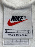 90's Nike Mini Swoosh Made in USA Vintage Hoodie Sweat-Shirt / 3798