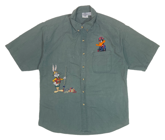 1991' Daffy Duck & Bugs Bunny Looney Tunes Vintage Button Down Shirts / 3807