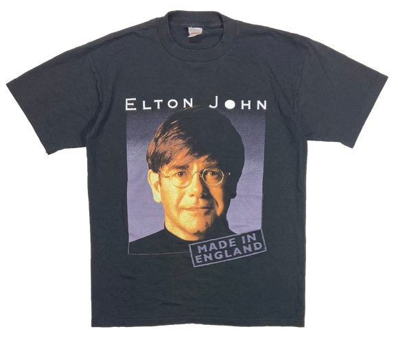 1995' Elton John Made in England Made in USA Tour T-Shirt / 3893