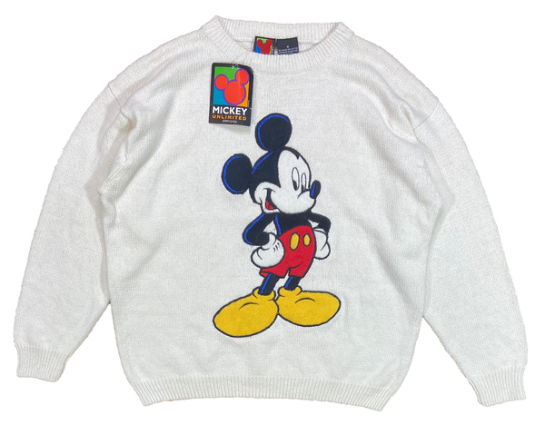 90's Dead Stock Mickey Mouse Disney Vintage Knit Sweater / 3955