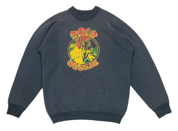 90's ROIR REGGAE Made in USA Slim Fit Sweat-Shirt / 4030