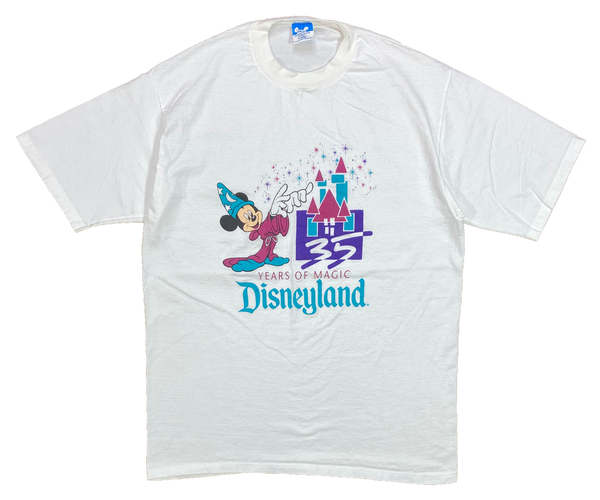 1990' Disneyland 35th Made in USA Vintage Slim Fit T-Shirt / 4338