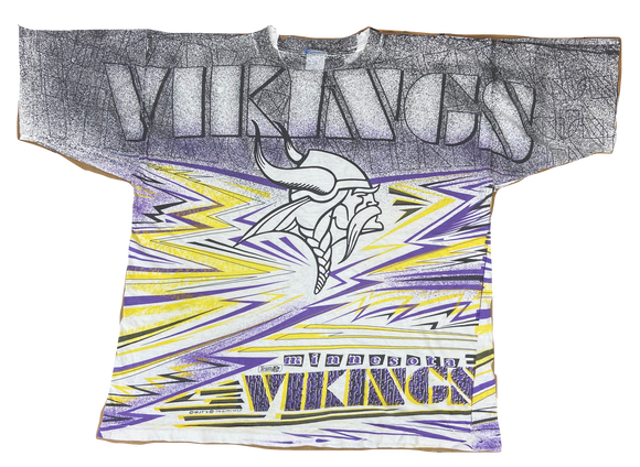 1992 Vikings All Over Print Vintage T-Shirts / 435