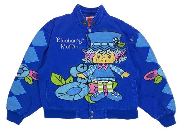 Vintage Blueberry Muffin Cheese Cake Kids Cotton Jacket / 4443