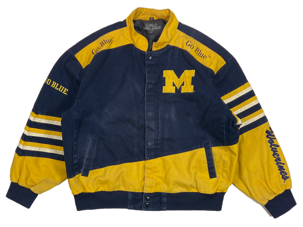 Vintage Michigan Wolverines Cotton Jacket / 4444
