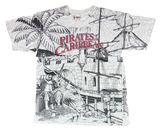 Pirates of the Caribbean All Over Print Vintage Disney T-Shirts  / 517