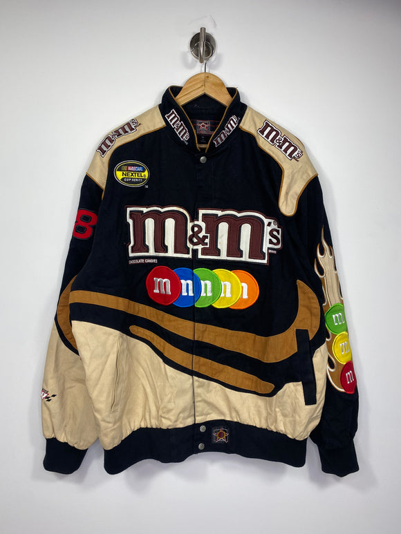 Vintage NASCAR JD Design NEXTEL Cup Series M&M's Racing Jacket / 4728