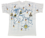 90's Mickey Vintage Disney All Over Print T-Shirts  / 558