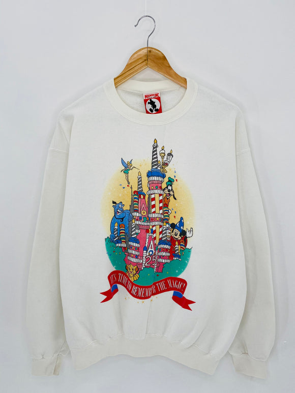 90's WALT DISNEY WORLD 25TH ANNIVERSARY Made in USA Size L Vintage Sweat-shirt / 6074