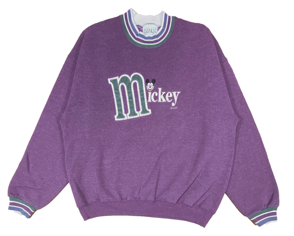 90's Mickey Made in USA Disney Vintage Sweat Shirt / 727