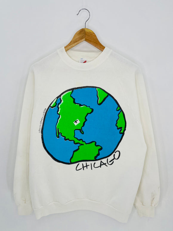 90's CHICAGO Made in USA Size XL Vintage Sweat-Shirt / 6955