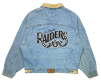 90's Raiders Vintage Denim Jacket / 766