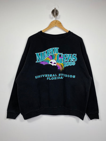 2000 UNIVERSAL STUDIOS FLORIDA Mardi Gras Vintage Made in USA  Sweat-Shirts / 4618