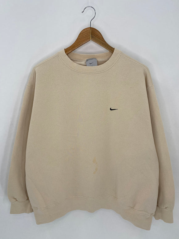 90's NIKE Mini Swoosh Size XL Vintage Sweat-shirt / 6987