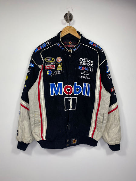 Vintage NASCAR JH Design Mobil Racing Jacket / 4725