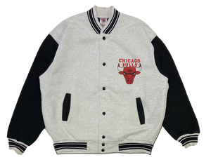 90's Chicago Bulls Vintage Snap Sweat-Jacket / 907