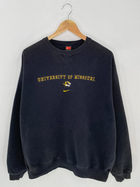 90's NIKE UNIVERSITY OF MISSOURI Size L Vintage Sweat-Shirt / 6960