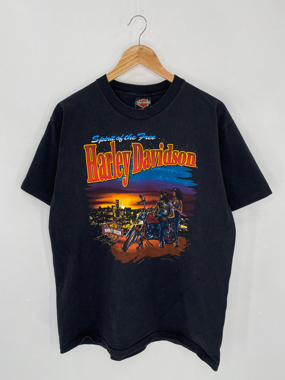 1993 HARLEY DAVIDSON Made in USA Size L Vintage T-Shirts / 6198