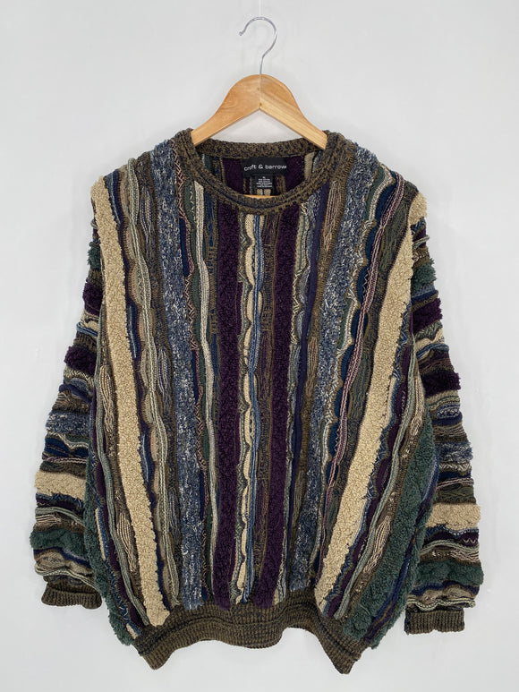 Vintage 3D Coogi-Style Size XL Knit Sweater / 6322