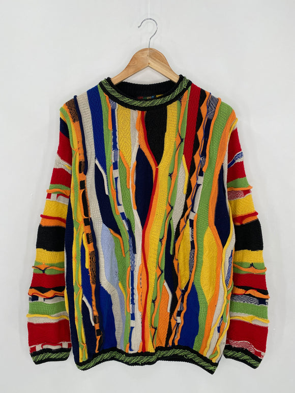 Vintage 3D Coogi-Style Size M Knit Sweater / 6314