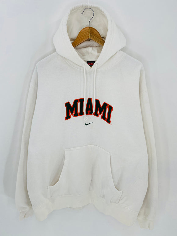 90's NIKE MIAMI Size XL Vintage Hoodie Sweat-Shirt / 6964