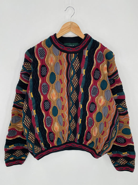 Vintage 3D Coogi-Style Size M Knit Sweater / 6260
