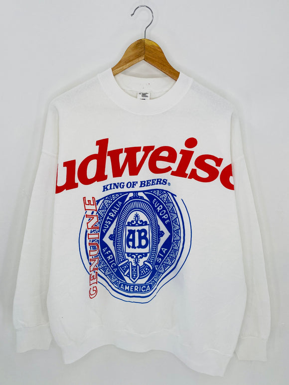 90's BUDWEISER Size XL Vintage Sweat-Shirt / 6978