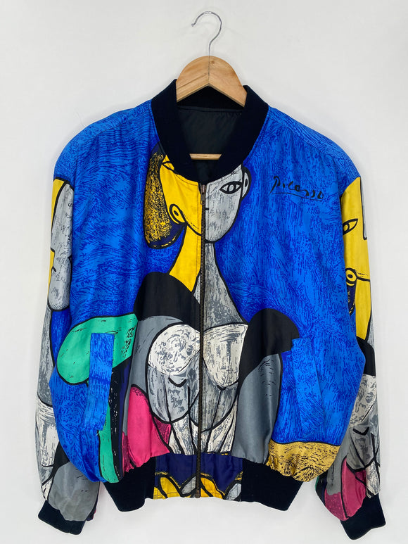 Vintage Picasso Size Approx.XL Nylon Jacket / 5644