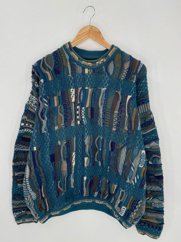 Vintage 3D Coogi-Style Size XL Knit Sweater / 6264