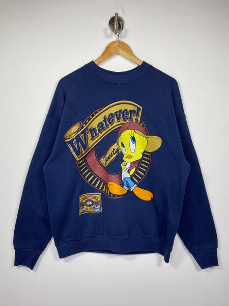 90's Looney Tunes WHATEVER! Tweety Vintage Made in USA Sweat-Shirts / 4597