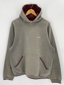 00' NIKE Mini Swoosh Size L Vintage Hoodie Sweat-shirt / 7966