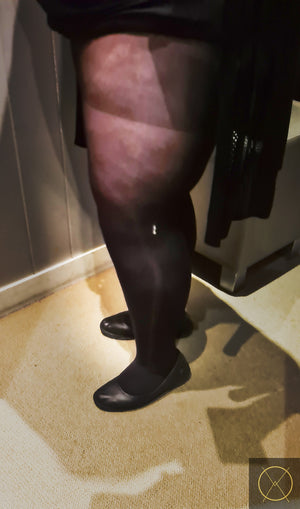 50 Denier Medium Sheer Black Pantyhose