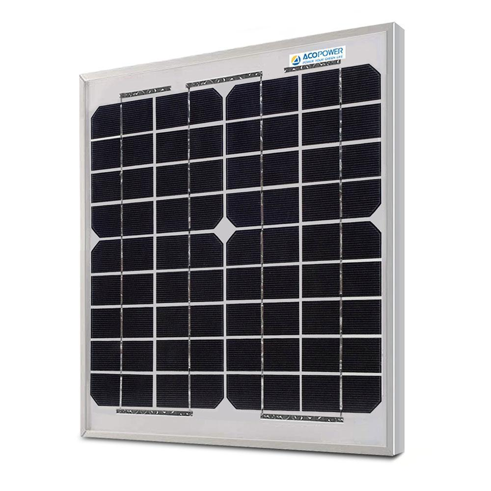 ACOPOWER 10 Watt 12volts Monocrystalline Solar Panel Solar Panels Lights Your Life