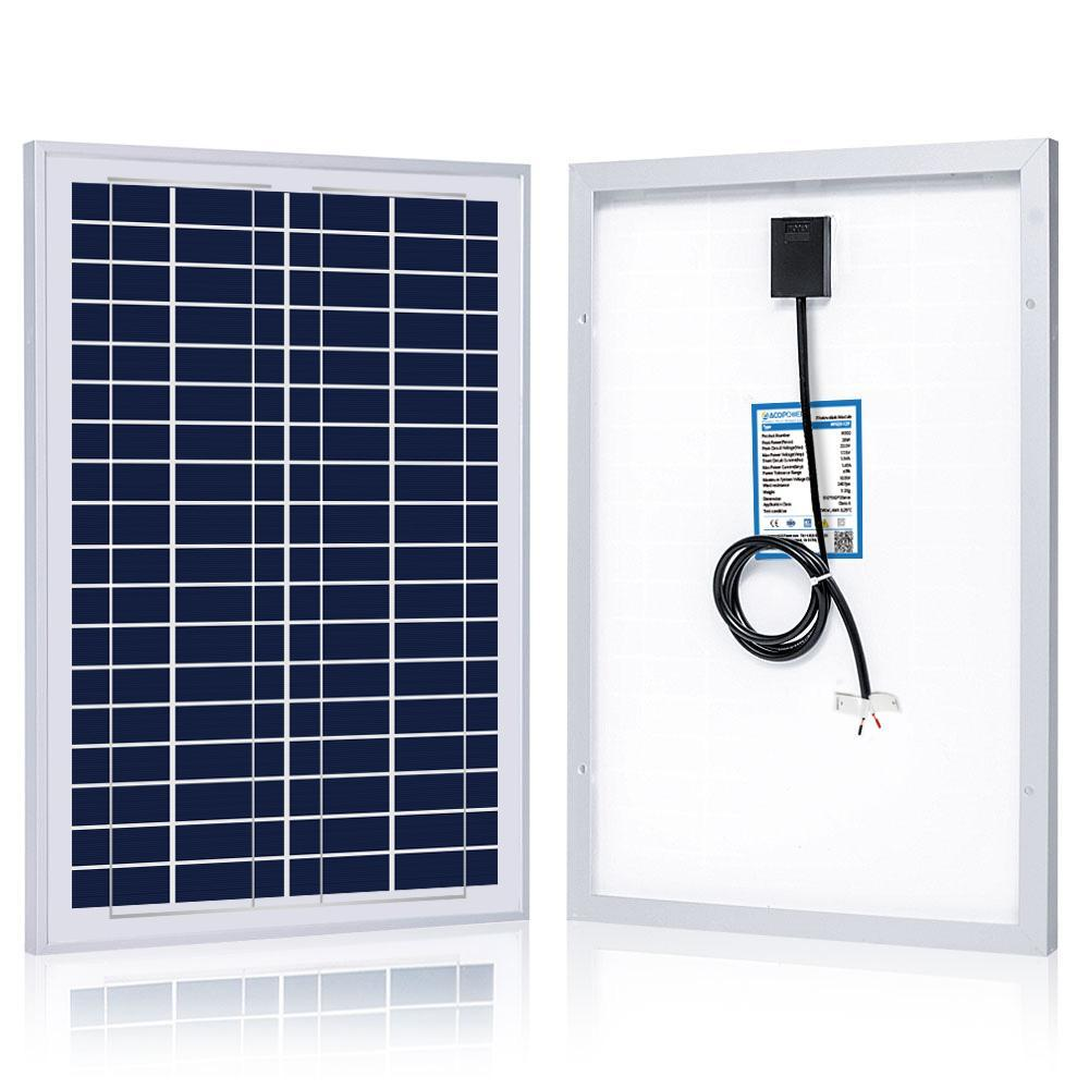 ACOPOWER 25W Poly Solar Panel 12V Solar Panels Lights Your Life